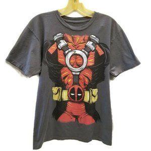 Marvel Deadpool Body Suit Costume T Shirt Gray M